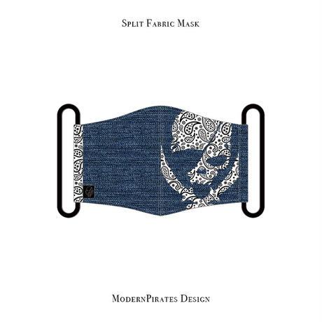 * Limited items for production * Split mask / Paisley ModernPirates Skull Design (Denim / White )
