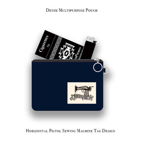 【 Horizontal Denim Multipurpose Pouch  】Sample products