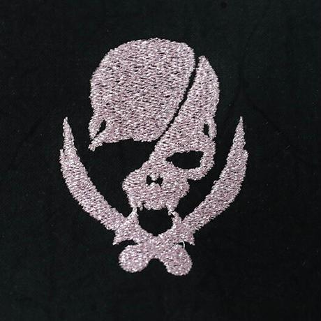 *期間限定受注生産品 スプリット マスク / モダンパイレーツ スカル 刺繍 デザイン ( 左側刺繍)