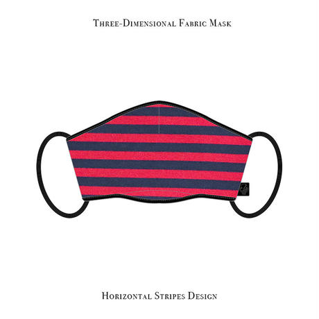 Three-Dimensional Fabric Mask / Horizontal Stripes Design