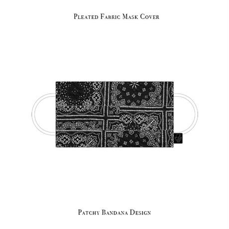 Pleated Fabric Mask Cover / Patchy Bandana Design
