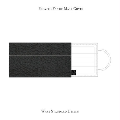 Pleated Fabric Mask Cover / Wave Design