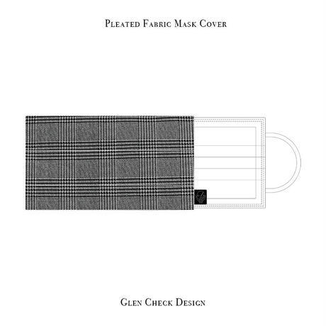 Pleated Fabric Mask Cove / Glen Check Design