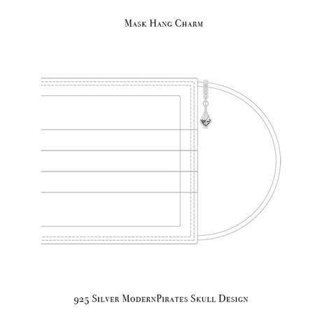 マスク ハング チャーム  / 925シルバー モダンパイレーツ スカル デザイン