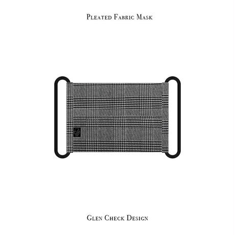 Pleated Fabric Mask / Glen Check Design