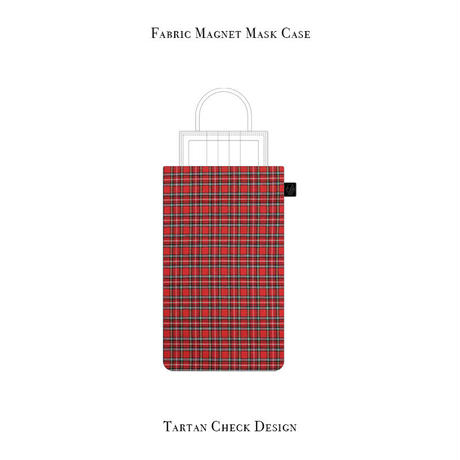 Fabric Magnet Mask Case / Tartan Check Design