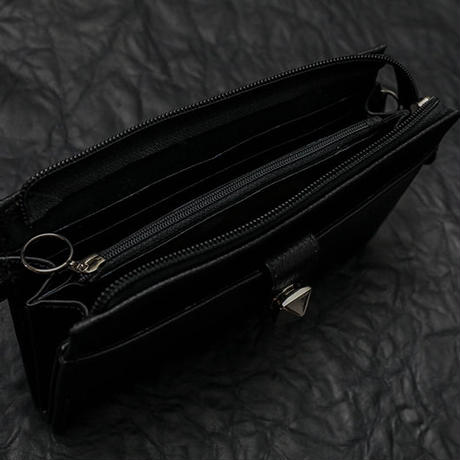 【 Shrink Leather Wallet Sholder Pouch 】