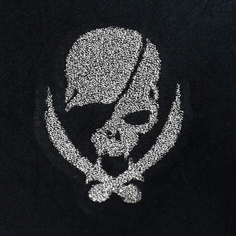 *期間限定受注生産品 スプリット マスク / モダンパイレーツ スカル 刺繍 デザイン (右側刺繍)