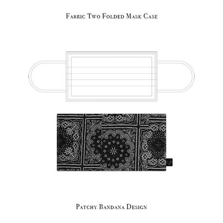 Fabric Two Folded Mask Case / Patchy Bandana Design