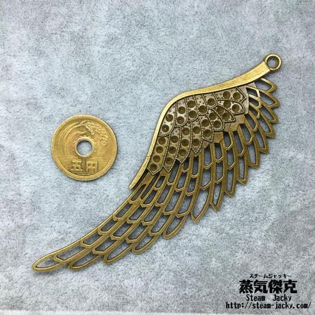 『透かし彫り・大きな翼』金属素材 商品番号W-0014