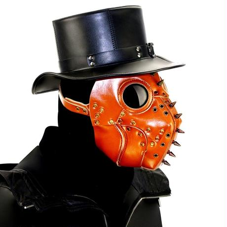 【革・釘】レザー防護マスク