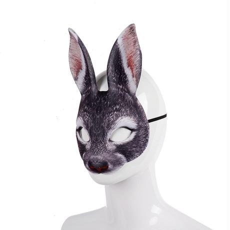 兎のマスク グレー