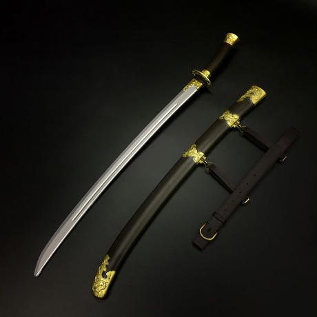 【柳葉刀(りゅうようとう)】剣帯・鞘付き造形刀剣 プラスチック製