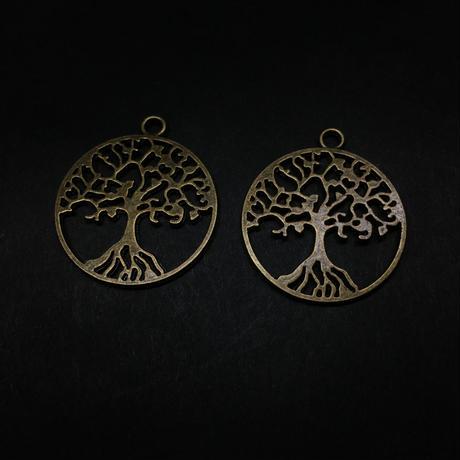 『世界樹』金属素材 ペアセット 直径2.4cm
