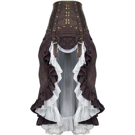 【XSーL】スチームパンク ビクトリア風ロングスカート