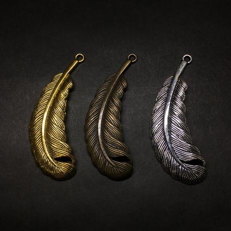 『丸い羽』金属素材  7.5cm