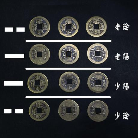『六爻占術・古銭』3枚 複製品