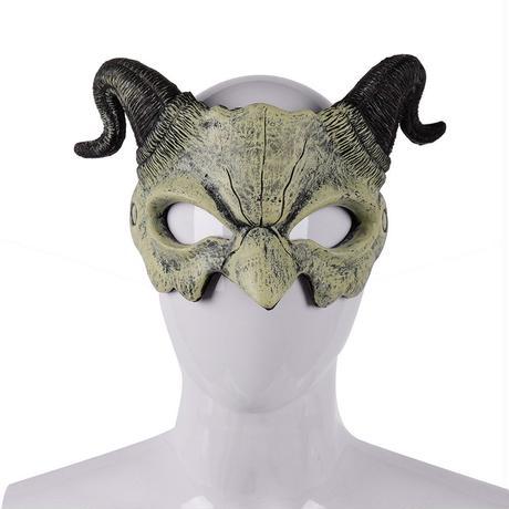【白】角悪魔のマスク
