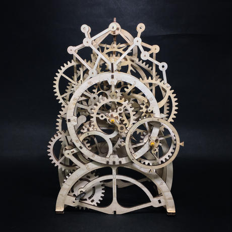 【委託・完成品】時ノ恒 木製ゼンマイ時計