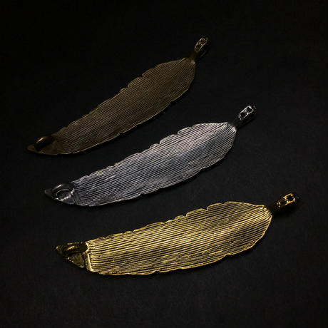 『大きな羽』金属素材  10.3cm