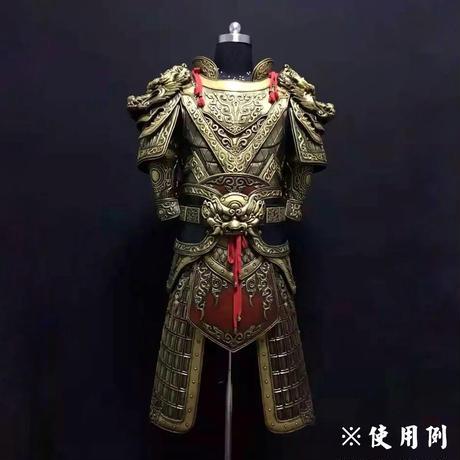 龍型肩鎧の肩呑み 中華風 グライスファイバー製レプリカ ソフト