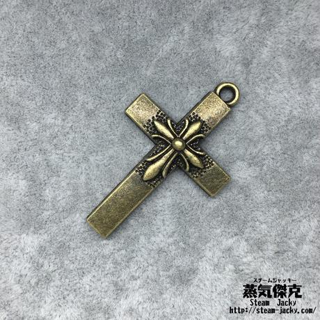 『銅十字』2点セット 金属素材 縦5cm x 横3mm