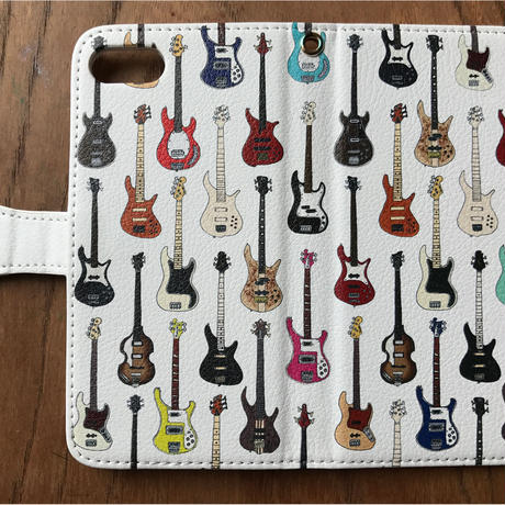 【iPhone6Plus/6sPlus/7Plus/8Plus/Android Lサイズ】BASS MANIA 手帳型スマホケース
