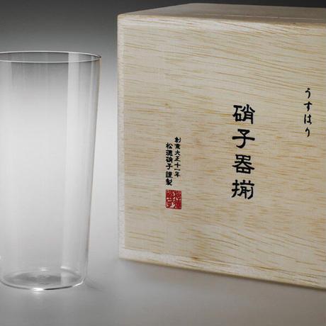 うすはり タンブラーL 木箱2P 松徳硝子 手作りガラス器
