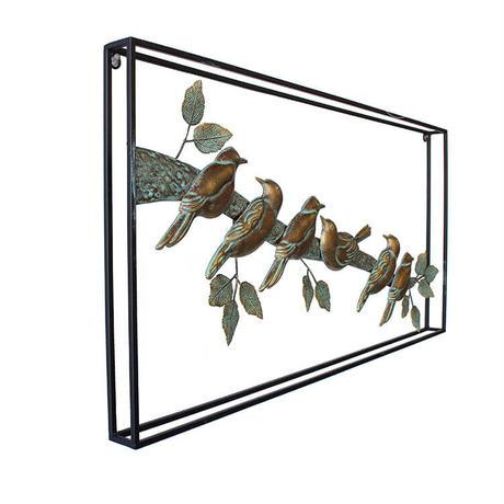 彩か(Saika)Wall Deco ブロンズ 6 Birds ウォールデコレーション アイアン 小鳥 インテリア CIL-92