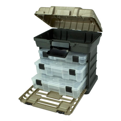 Plano 3段トレー付工具箱 グレー 深 道具 収納ケース