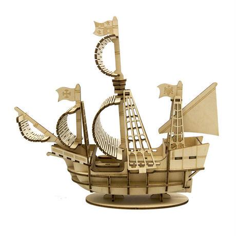 Wooden Art ki-gu-mi 帆船 キグミ 木製パズル 自由工作 木工キット