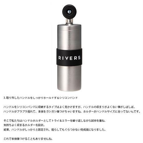 RIVERS リバース コーヒーグラインダー グリット シルバー コーヒーミル 手引き アウトドア ソロキャンプ