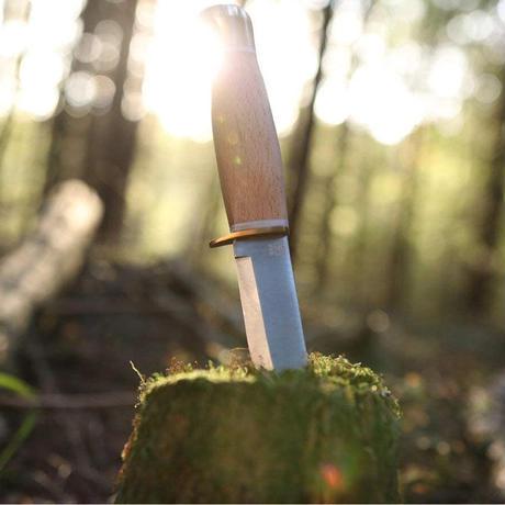 オヨ(ØYO) ナイフ キャンプ アウトドア BBQ 薪割り シースナイフ 全長20 OY303 ヨトゥンハイメンナイフ 革ケース付
