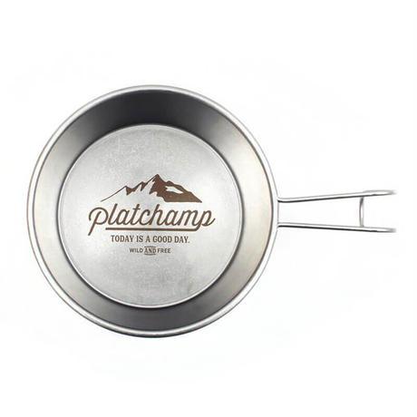 Platchamp プラットチャンプ ROCKY CUP SILVER ステンレスカップ シエラカップ 調理器具 アウトドア キャンプ バーベキュー PC542