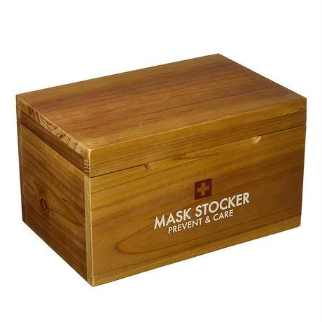 マスク ストッカー PREVENT ウッド 22×14.5×13cm マスクケース マスク収納
