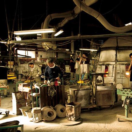 うすはり 鼓 ビールグラス(ピルスナー)木箱2P 松徳硝子 手作りガラス器
