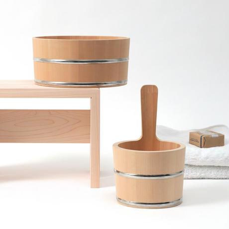 ambai 風呂椅子 角 大 日本製 小泉誠デザイン 東濃ひのき NKK-002