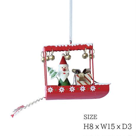 彩か(Saika)Santa in Boat CXM-56  オーナメント サンタクロース クリスマス 飾り インテリア