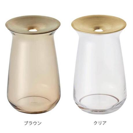 KINTO キントー LUNA ベース 80x130mm 花器 花瓶 一輪挿し ガラス