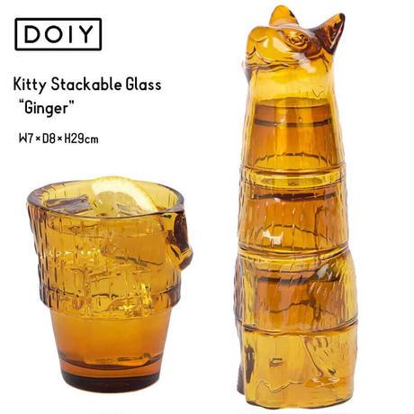 """DOIY キティ スタッキング グラス ジンジャー Kitty Stackable Glass """"Ginger"""" 猫 インテリア おしゃれ プレゼント"""