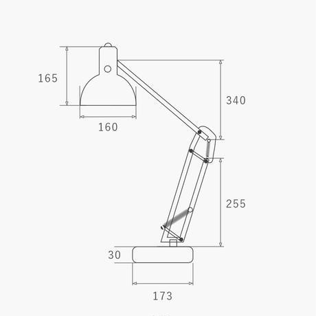 ハモサ HERMOSA デスクランプ FP-006BK カールトンデスクランプ ブラック/ビンテージグレー