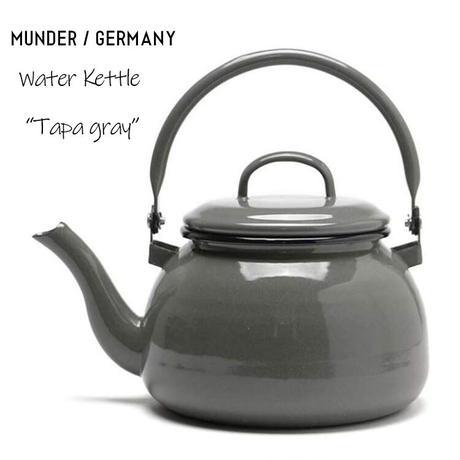 MUNDER ウォーターケトル Water Kettle タパ グレー エナメル 琺瑯 ホーロー IH EUメイド 満水容量2.5L