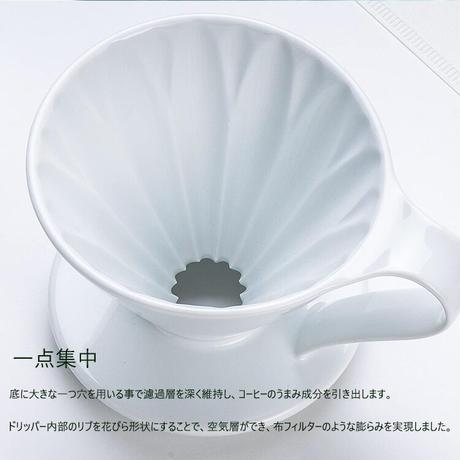 三洋産業 CAFEC フラワードリッパー cup4 2~4杯用 有田焼 メジャースプーン付き ホワイト CFD-4WH