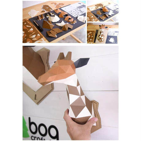 bogcraft ボグクラフト KAKUKAKU WALL デザイン小物 組み立てるインテリア ペーパークラフト ウォールデコレーション Lサイズ