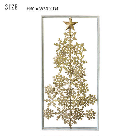 彩か(Saika)Gold Snow Crystal クリスマス ウォールデコレーション メタル CIL-302