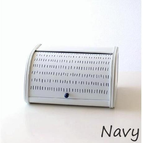 ローラートップブレッド缶S 点線 ブレッドケース 保存缶 AXCIS 赤 紺