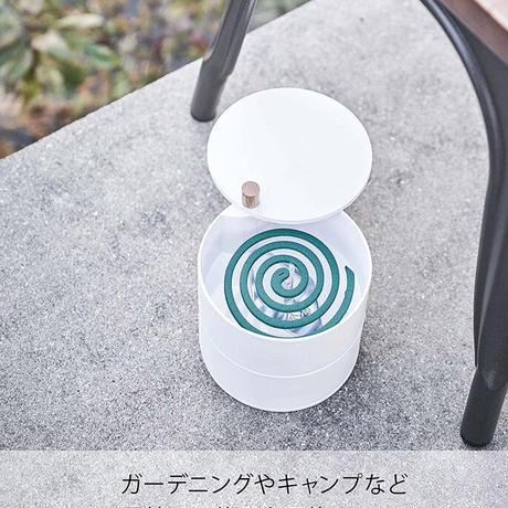山崎実業(Yamazaki) タワー 収納トレー付き蚊遣り TOWER 蓋つき 蚊取り 線香ホルダー