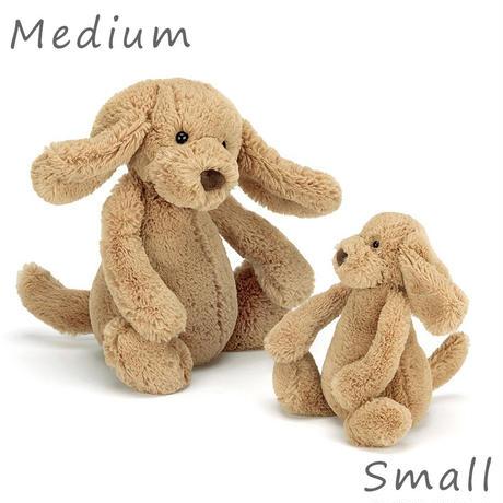 Jellycat ジェリーキャット 子犬のぬいぐるみ Bashful Toffee Puppy Medium_BAS3TPUS M サイズ:31cm ベージュ