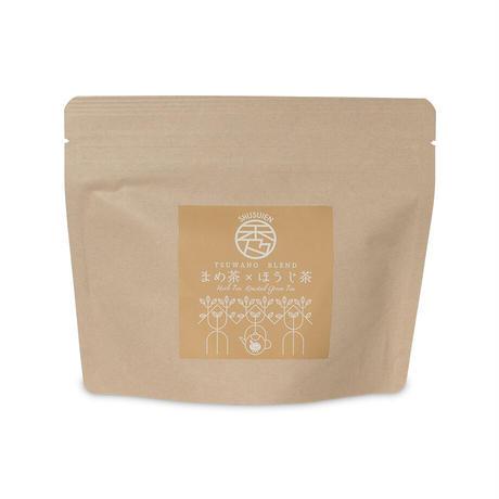 まめ茶×ほうじ茶ブレンドテトラ型ティーバッグ2g×8個入り(10袋以内までポスト便で全国一律送料500円)