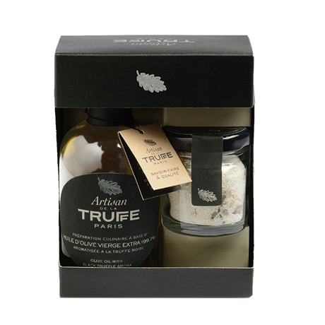 トリュフ塩・黒トリュフオイルのギフトボックス